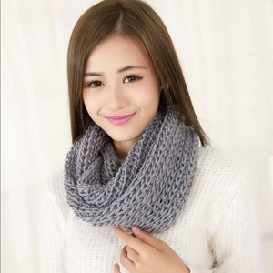 Accessories - NWT Grey Cable Knit Infinity Scarf!